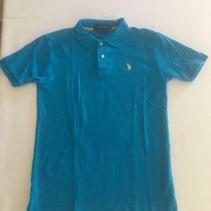 US Polo Association men's blue polo shirt